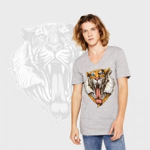 Camiseta manga corta con cuello de pico personalizada