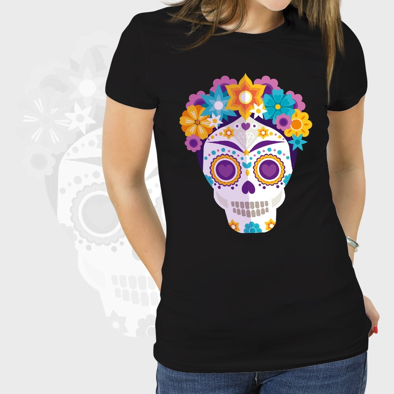 ... Camiseta mujer manga corta básica personalizada ... 3b718cea593c3
