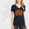 Camiseta mujer manga corta cuello de pico personalizada