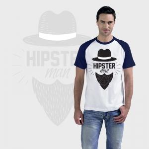 Camiseta manga corta bicolor personalizada
