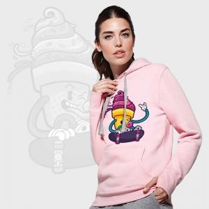 Sudadera mujer bicolor con capucha personalizada