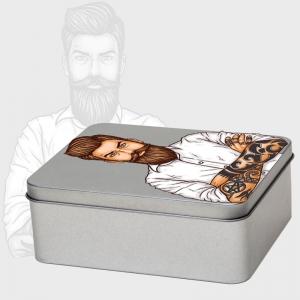 Caja metálica rectangular personalizada