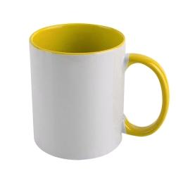 Taza con interior y mango de color personalizada
