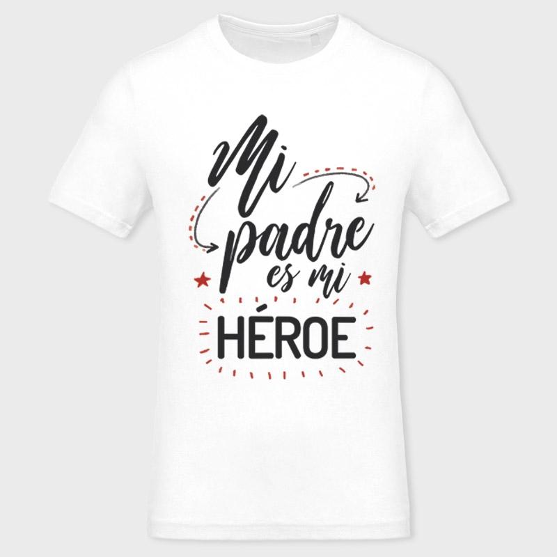 ... Camiseta Día del Padre  mi padre es mi héroe ... 8734c26026955
