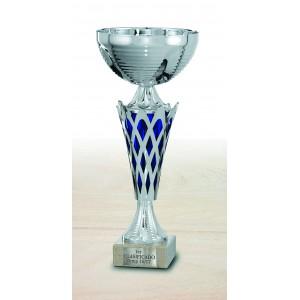 Trofeo Copa con detalles pequeños azules