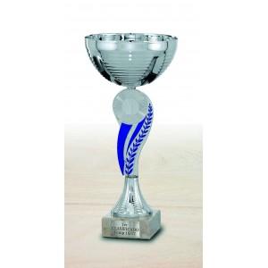 Trofeo con hojas azules