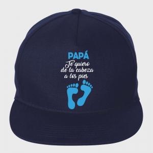 Gorra Día del Padre: te quiero de la cabeza a los pies