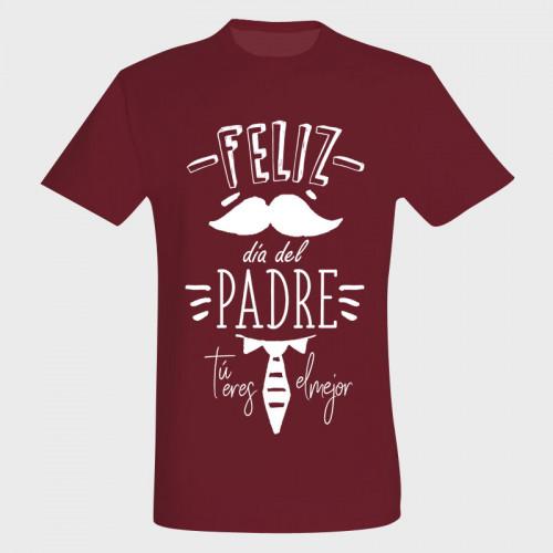 Camiseta Día del Padre: feliz día del padre tú eres el mejor