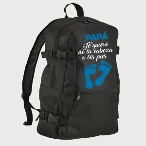 Mochila Día del Padre: papa te quiero de la cabeza a los pies