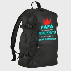Mochila Día del Padre: papa te mereces un monumento