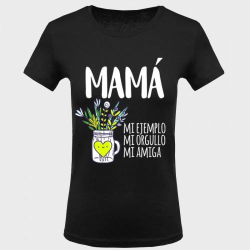 Camiseta Día de la Madre: mamá mi ejemplo
