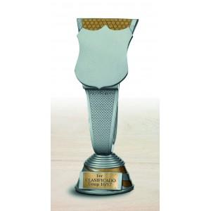 Trofeo de resina en forma de escudo