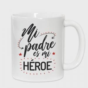 Taza Día del Padre: mi padre es mi héroe