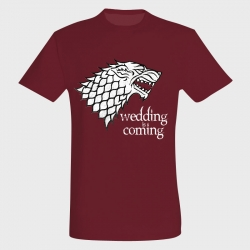 Camiseta despedida de soltero: wedding is coming