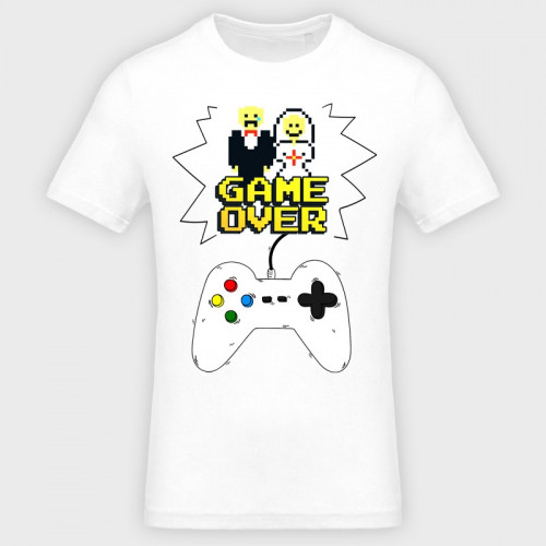 Camiseta despedida de soltero: game over