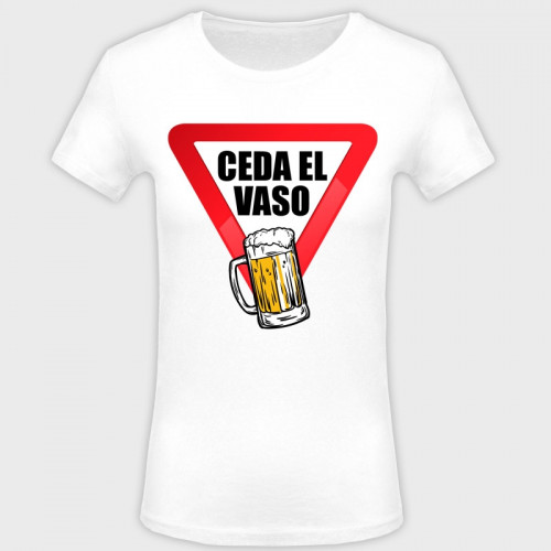 Camiseta despedida de soltera: ceda el vaso
