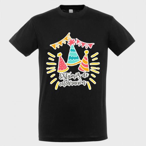 Camiseta cumpleaños: estamos de celebración