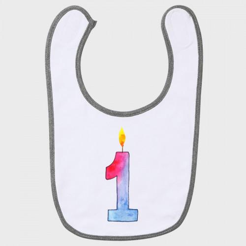 Babero cumpleaños: uno