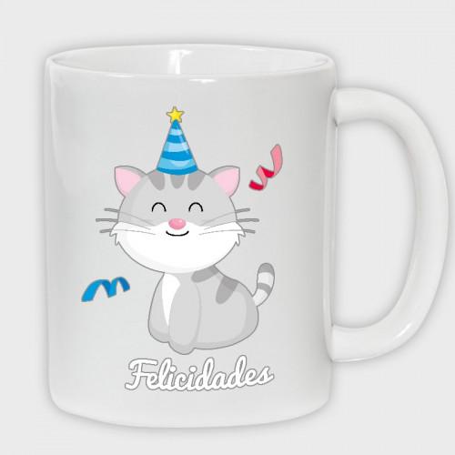 Taza Cumpleaños: gato