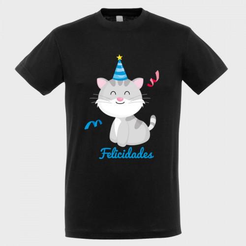 Camiseta cumpleaños: gato