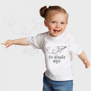 Camiseta bebé manga corta personalizada