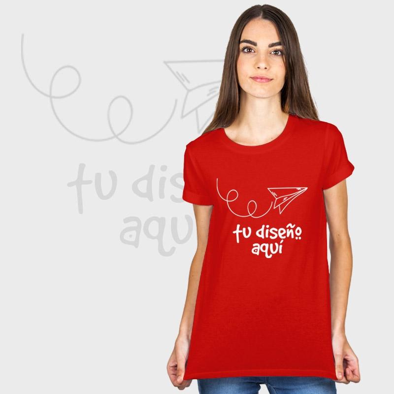 0e2b269d5 Camiseta mujer manga corta básica personalizada ...