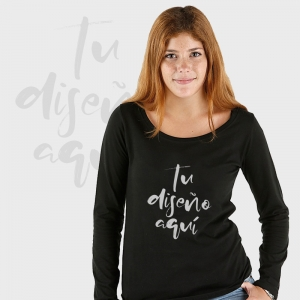 Camiseta mujer manga larga personalizada