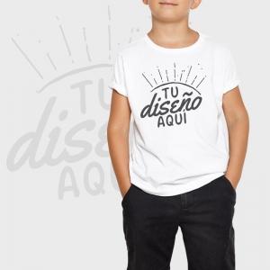 Camiseta niño manga corta personalizada