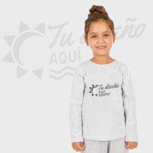 Camiseta niña manga larga personalizada