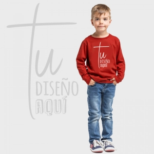 Camiseta niño manga larga personalizada
