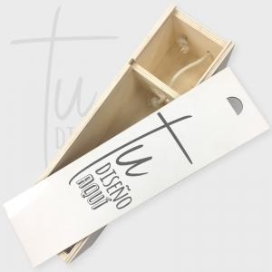 Caja de madera para vino personalizada
