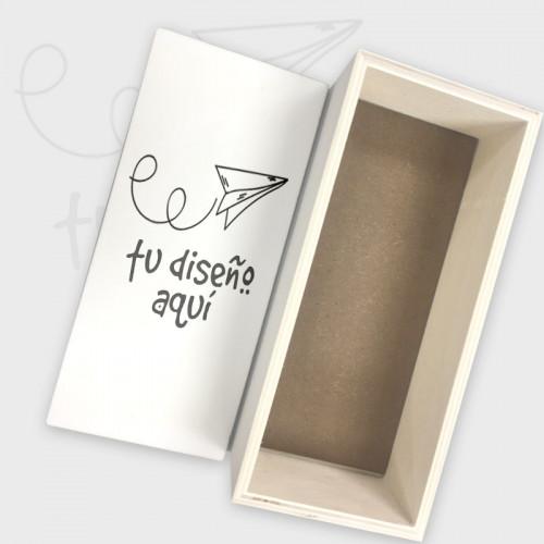 Caja de madera con cubierta personalizada