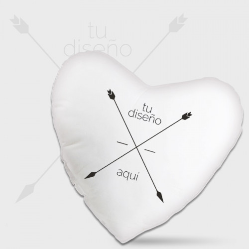 Cojín corazón 2 caras personalizado