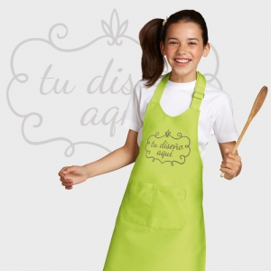 Delantal largo kids personalizado