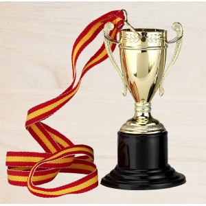Medalla de trofeo con disco
