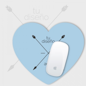 Alfombrilla forma corazon personalizada