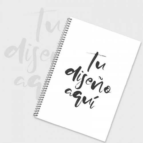 Cuaderno hoja blanca A5 personalizado