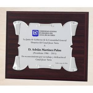 Placa de aluminio especial esquinas dobladas para sublimación