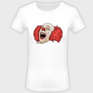 Camiseta mujer halloween: payaso