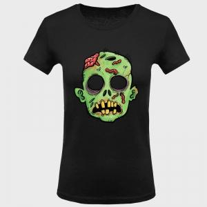 Camiseta mujer halloween: cara zombie