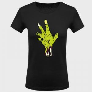 Camiseta mujer halloween: mano