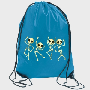 Gymsack halloween: esqueletos