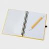 Cuaderno hoja blanca A5 con boli personalizado
