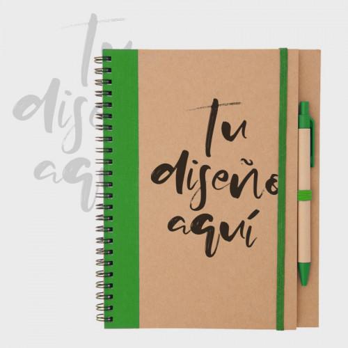 Cuaderno bicolor hoja blanca A5 personalizado