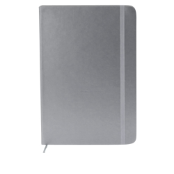 Libreta A5 tipo moleskine metalizada hoja blanca personalizada