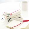 Libreta A6 tipo moleskine bicolor hoja blanca personalizada