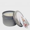 Vela aromática caja metálica personalizada