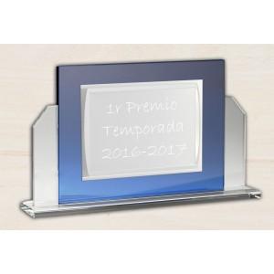 Cristal óptico azul rectangular